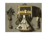 Still-Life with Hunting Equipment Giclee Print by Johannes Leemans