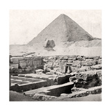 The Sphinx and the Great Pyramid, Egypt, Early 20th Century Giclee Print