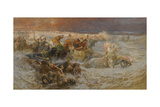Pharaoh's Army Engulfed by the Red Sea Giclee Print by Frederick Arthur Bridgman