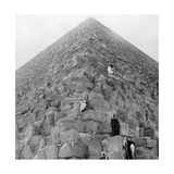 Tourist's Corner, the Great Pyramid of Giza, Egypt, 20th Century Giclee Print