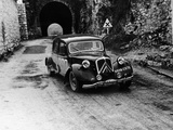 Citroën 15/6 in the Monte Carlo Rally, 1955 Photographic Print