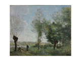 Memory of Coubron Giclee Print by Jean-Baptiste Camille Corot