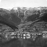 Zell Am See and Mount Schmittenhöhe, Salzburg, Austria, C1900s Photographic Print by  Wurthle & Sons