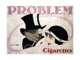 Problem Cigarettes, 1912 Giclee Print by Hans Rudi Erdt