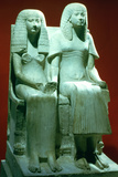 Statue of a Husband and Wife, Egyptian, 18th Dynasty Photographic Print