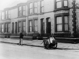 An 'Orderly Boy' and His Cart Sweeping a Street, Liverpool, 1935 Photographic Print