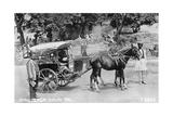Mail Tonga, Nainital, India, 1917 Giclee Print