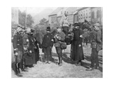 A Group of Military Chaplains, World War I, 1914 Giclee Print