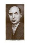 Arthur J Elvin, British Boxing Promoter, 1938 Giclee Print