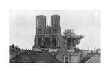 Cathedral of Reims, First World War, 19 April 1917 Giclee Print