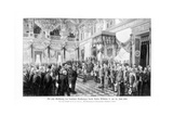 Wilhelm II and the Ministers at the Opening of the Reichstag (25 June 188), 1900 Giclee Print