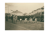 Olympic Games, 1896, Preparation for the 100-Meter Race, 1896 Giclee Print by Albert Meyer