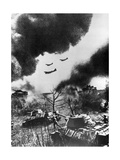 Soviet Tanks and Aircraft Launching an Attack, Russia, 1943 Giclee Print