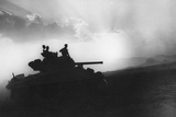 A Squadron of Tanks on the Way to Rammacca, Sicily, July 1943 Photographic Print