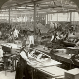 Sheet Metal Workers at a Aeroplane Factory, World War I, 1914-1918 Photographic Print