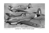 Curtiss P-40 Pursuit Fighter Planes Giclee Print
