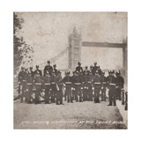 Group of Artillery at Tower Bridge, London, C1910 Giclee Print