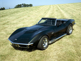 A 1969 Chevrolet Corvette Stingray in a Field Photographic Print