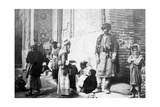Kurdish Barber, Outside Kazimain Mosque, Iraq, 1917-1919 Giclee Print