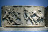 Relief Depicting Greek Soldiers Fighting Amazons Photographic Print