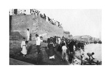 Waiting for the Troop Barges to Arrive, Tigris River, Baghdad, Iraq, 1917-1919 Giclee Print
