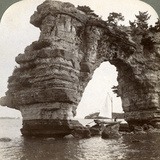 Rock Arch in Matsushima Bay, South-East Japan, 1904 Photographic Print by  Underwood & Underwood