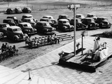 Outdoor Church Service with Cars Parked Behind, USA, 1950s Photographic Print