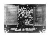 German Soldiers in a Railway Wagon, France, August 1940 Giclee Print
