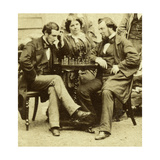 Chess and Cards, C1850s Giclee Print