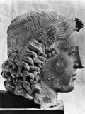 Bronze Bust of the Greek God Apollo, C460 BC Photographic Print
