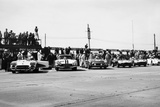 Chevrolet Corvettes at the Sebring 12-Hour Race, Florida, USA, 1958 Fotografiskt tryck