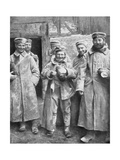 German Prisoners of War with their Ration of Bread, 1915 Giclee Print