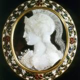 Cameo of Minerva, Roman Goddess of Wisdom Photographic Print