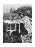 Composer Sergei Rachmaninov (1873-194) Correction of the Piano Concerto No. 3 in Ivanovka, 1910 Giclee Print