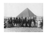 Camel Tour in Front of One of the Pyramids of Giza, Egypt, C1920s-C1930s Giclee Print