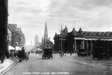 Looking East Along Princes Street, Edinburgh, Early 20th Century Photographic Print by  Valentine & Sons