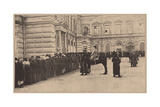 A Russian Bread Line Guarded by the Imperial Police, March 1917 Giclee Print