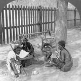 Breakfast by the Roadside Near Mandalay, Burma, 1908 Photographic Print