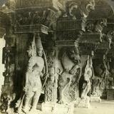 Pillars of a Hindu Temple, Madurai, India, C1900s Photographic Print