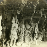 Pillars of a Hindu Temple, Madurai, India, C1900s Photographic Print by  Underwood & Underwood