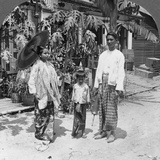 Burmese Family, Rangoon, Burma, 1908 Photographic Print