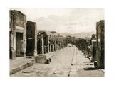 Strada Dell' Abbondanza, Pompeii, Italy, C1900s Giclee Print