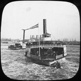 River Steamer, USA, Late 19th or Early 20th Century Photographic Print
