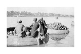 River Craft Laden with Melons, Tigris River, 1917-1919 Giclee Print