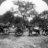 Horse-Drawn Artillery, World War I, 1914-1918 Photographic Print