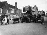 Bus on a Street in Amersham, Buckinghamshire Photographic Print
