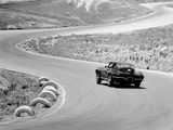 1964 Chevrolet Corvette Stingray on a Winding Racetrack, (C1964) Photographic Print