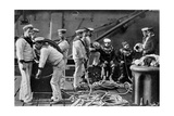 The Diver on Board Ship, 1896 Giclee Print by  Gregory & Co