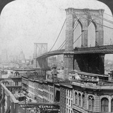 Brooklyn Bridge, New York, USA, 1901 Photographic Print by  Underwood & Underwood