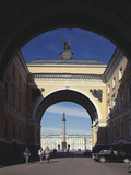 The Triumphal Arch of the General Staff Building in Saint Petersburg, 1819-1829 Photographic Print by Carlo Rossi